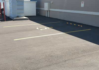 Parking lot for disabled