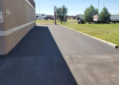 Driveway near store